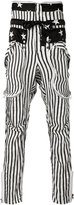 Faith Connexion stars and stripes trousers - men - Silk - S