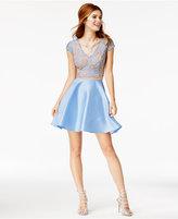 City Studios Juniors' 2-Pc. Lace A-Line Dress