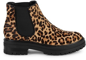 Kenneth Cole New York Rhode Leopard-Print Calf Hair Chelsea Boots