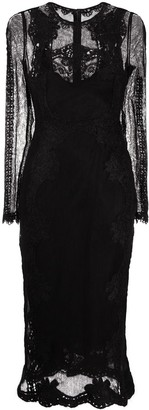 Dolce & Gabbana Embroidered Semi-Sheer Mid-Length Dress