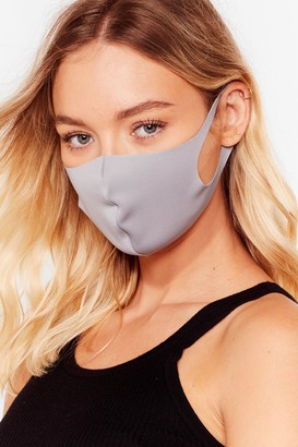 Nasty Gal Womens To My Face Fashion Face Mask - Grey - One Size