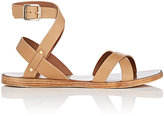 Barneys New York WOMEN'S LEATHER ANKLE-WRAP SANDALS