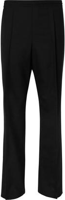 Maison Margiela Black Pleated Wool-Poplin Trousers