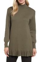 Women's Nordstrom Signature Ruffle Hem Cashmere Blend Tunic