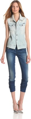 G Star Women's Arc Sleeveless Jacket Comfort Calc Denim