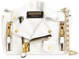 Moschino Biker Leather Shoulder Bag