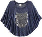 Mudd owl poncho top - girls plus