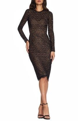 Dress the Population Kay Long Sleeve Sheath Dress