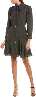 Rebecca Taylor Sprinkle Dot Silk Shirtdress