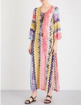 Missoni Chevron crochet-knit maxi kaftan