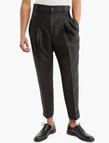 Haider Ackermann Black Pleated Wool Trousers