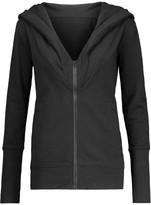 Norma Kamali Cotton-blend hooded sweatshirt