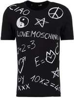 Love Moschino Stampa Lavagna Slim Fit Print Tshirt Black
