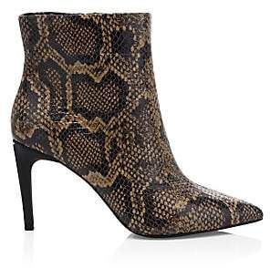 Ash Women's Bianca Snakeskin-Embossed Leather Ankle Boots