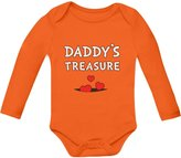 TeeStars Daddy's Treasure - Father's Day Cute Bodysuit Boy / Girl Baby Long Sleeve Onesie