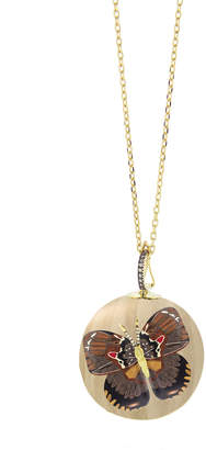 Silvia Furmanovich 18k Marquetry Diamond Butterfly Ball Necklace