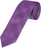 Oxford Silk Tie Classic Chk Reg Purple X