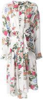 Isabel Marant midi silk flower dress - women - Silk - 40
