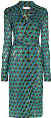 Wales Bonner Celeste geometric-print midi dress