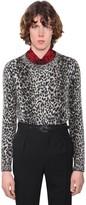 Saint Laurent Mohair & Wool Jacquard Sweater