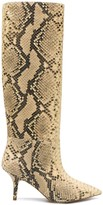 Yeezy snake effect mid-calf boots