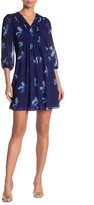 Calvin Klein Baby Doll Floral Pleated Dress