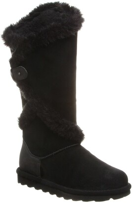 BearPaw Sheilah Suede Tall Faux Fur Boot