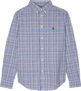 Ralph Lauren Embroidered logo checked cotton shirt 6-14 years