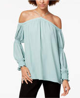 1 STATE 1.STATE Off-The-Shoulder Smocked-Sleeve Top