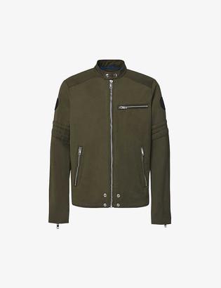 Diesel J-GLORY cotton-blend biker jacket