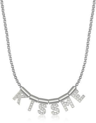 Nomination Sterling Silver and Swarovski Zirconia Kiss Me Necklace