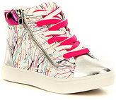 Steve Madden Girl's J-Spritzr High Top Lace-Up Side Zip Sneaker
