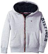 Tommy Hilfiger Sherpa Lining Full Zip Hoodie (Toddler/Little Kids)