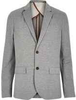 River Island MensLight grey jersey slim blazer
