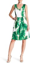 Sangria Palm Tree Print Dress