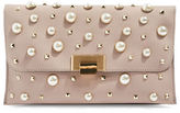 Topshop Cindy Faux Pearl Studded Clutch Bag