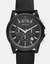 Armani Exchange Outerbanks Black Chronograph Watch