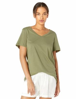 Hue Sleepwear Women's Plus Size Short Sleeve V-Neck Sleep Tee