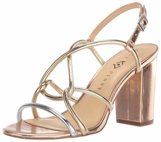 Katy Perry Women's The Kendra-Mirror Heeled Sandal silver/rose gold 6.5 Medium US