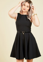 ModCloth Closet London Luck Be a Lady A-Line Dress in Black in 20 (UK)