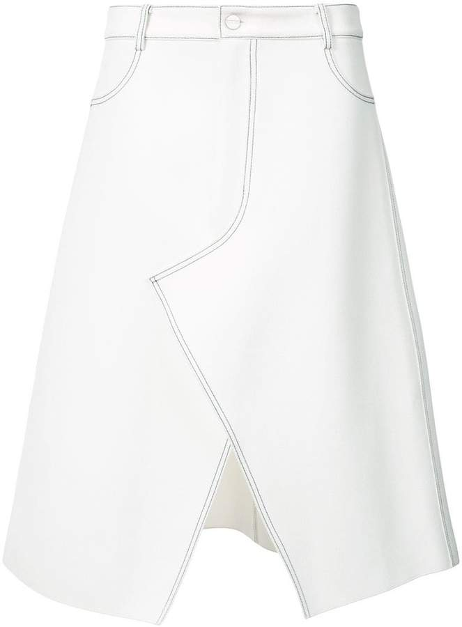 Dion Lee stitched a-line skirt