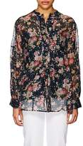 Pero Women's Floral Cotton-Silk Voile Tunic