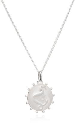 Rachel Jackson London Zodiac Art Coin Capricorn Necklace Silver