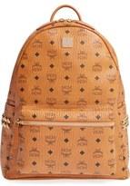 MCM 'Medium Stark' Side Stud Coated Canvas Backpack