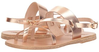 Ancient Greek Sandals Alethea (Pink Metal Vachetta) Women's Sandals