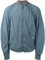 Kolor ruched-sleeve bomber jacket - men - Cotton/Polyester - 2