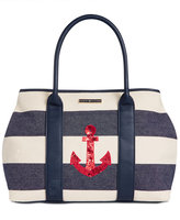 Tommy Hilfiger Aurora Embellished Woven Rugby Tote