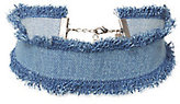 Dannijo Frayed Edge Denim Choker