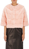 Barneys New York Women's Mink Bolero Jacket-PINK