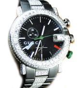 Gucci Ya101331 Sides And Band 9 Ct Diamond Mens Watch